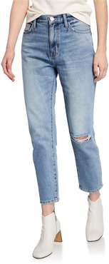 The Vintage Cropped Straight-Leg Jeans