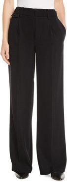 Relaxed High-Waist Wide-Leg Trousers