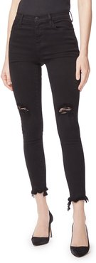 Alana High-Rise Distressed Frayed Skinny Jeans