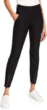Petra Stretch-Knit Pant w/ Zipper Details