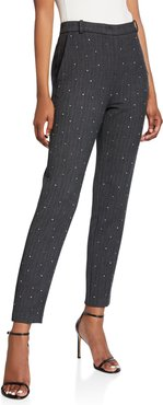 Tweed Ankle Trousers with Crystals