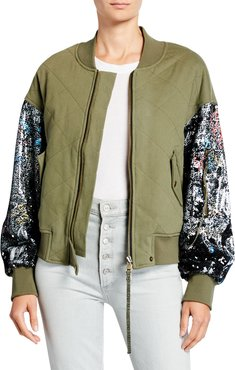 Mickie Sequined Bomber Jacket