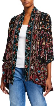Plus Size Waverly Embroidered Kimono