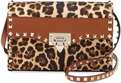 Rockstud Small Leopard-Print Shoulder Bag