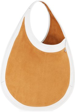 Teardrop Large Suede & Leather Tote Bag