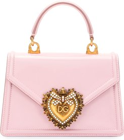 Devotion Mini Leather Top-Handle Bag with Sacred Heart