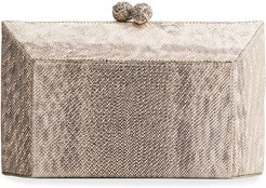 Gramercy Faceted Karung Box Clutch Bag