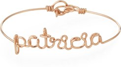 Personalized 10-Letter Wire Bracelet, Rose Gold Fill
