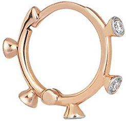 14k Rose Gold 5-Diamond Hoop Earring (Single)