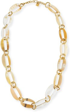 Pepo Oval-Link Horn Necklace