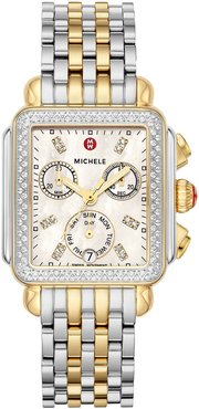 Deco Two-Tone Diamond Bracelet Watch