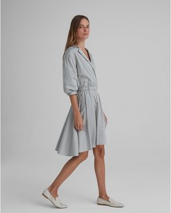 Stripe Collared A-Line Dress in Size 8