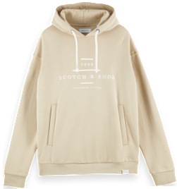 Cotton-blend Long Sleeve Branded Hoodie