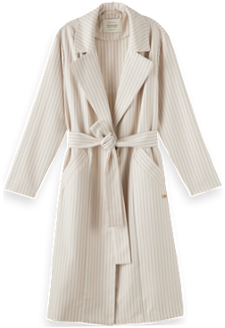 Pinstripe Duster Coat