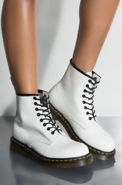 AKIRA Dr. Martens 1460 Smooth White Booties