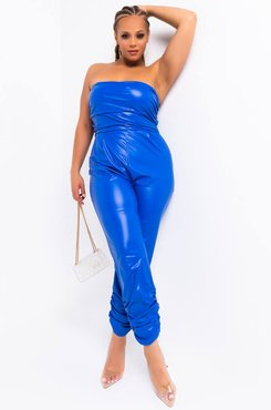Plus Reasons To Care Pu Tube Jumpsuit
