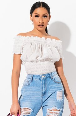 Show Some Shoulder Smocking Top