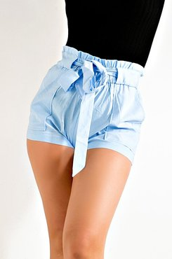 Slay All Day Belted Shorts