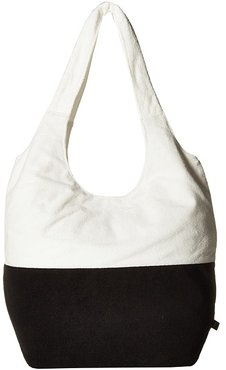 Color Blocked Terry Slouch Hobo (Black) Hobo Handbags