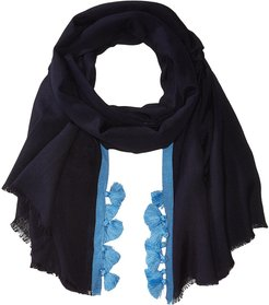 Cabana Stripe Modal Wrap (Navy) Scarves