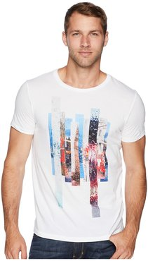 Picture Graphic T-Shirt (White) Men's T Shirt