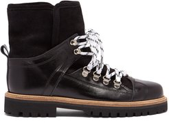 Edna shearling-lined leather boots