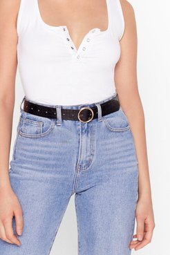 Circle Back Around Faux Leather Croc Belt