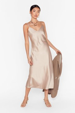 Read My Slip Satin Midi Dress