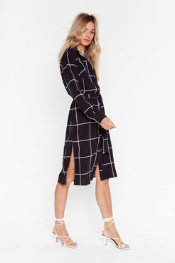 Windows Into the Check Midi Dress