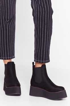 Stitch 'Em Up Faux Suede Platform Boots