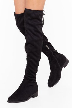 Give It All You've Got Wide Fit Thigh-High Boot