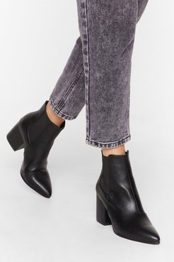 No Point Arguing Faux Leather Heeled Boots