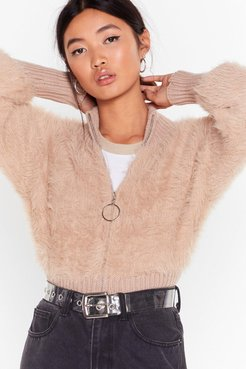 Knits Not Gonna Happen O-ring Zip Sweater