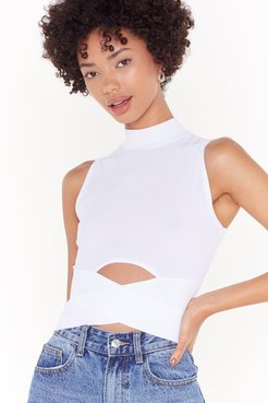 Cut-Out to Play Turtleneck Crop Top