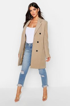 Double Breasted Coat - beige - 4
