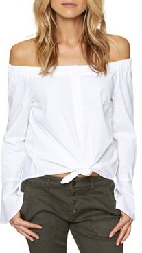 Abby Off-The-Shoulder Cotton Blouse