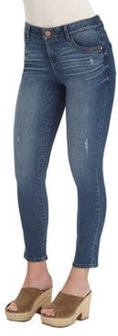 Mid-Rise Ankle Jeans