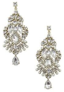 Pearl Party Crystal Statement Earrings