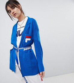 x Fila Soft Blazer With Belt - Blue