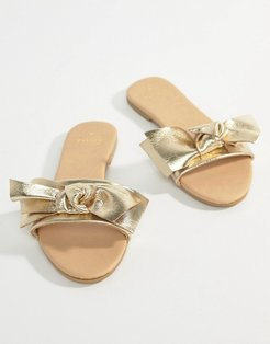 bow sliders - Gold