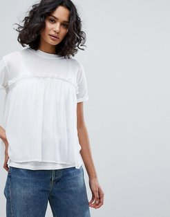 Georgette Layer T-Shirt - White