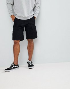 WIP Aviation Cargo Shorts In Slim Fit - Black