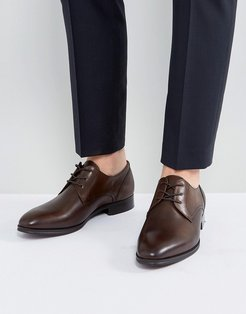 Lauriano Derby Leather Shoes In Brown - Brown