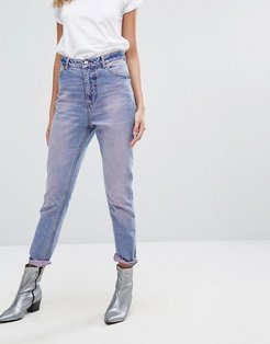 High Rise Mom Jean in Pink Wash - Pink