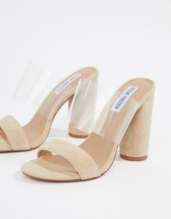suede heeled sandals - Tan