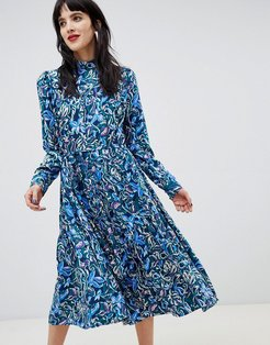 Custommade 70's Midi Dress in Paisley Print - Multi