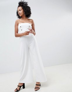 Strapless Tailored Jumpsuit - White