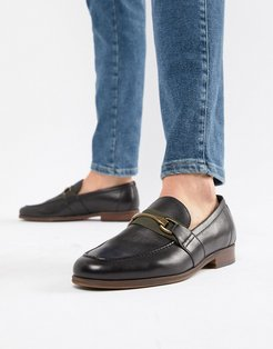 Gwiradien bar loafers in black leather - Black