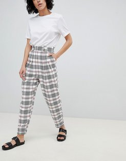 large check tapered pants - Multi
