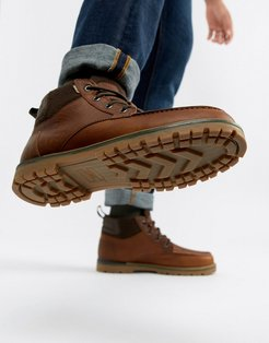 Hawthorne waterproof lace up boots in brown